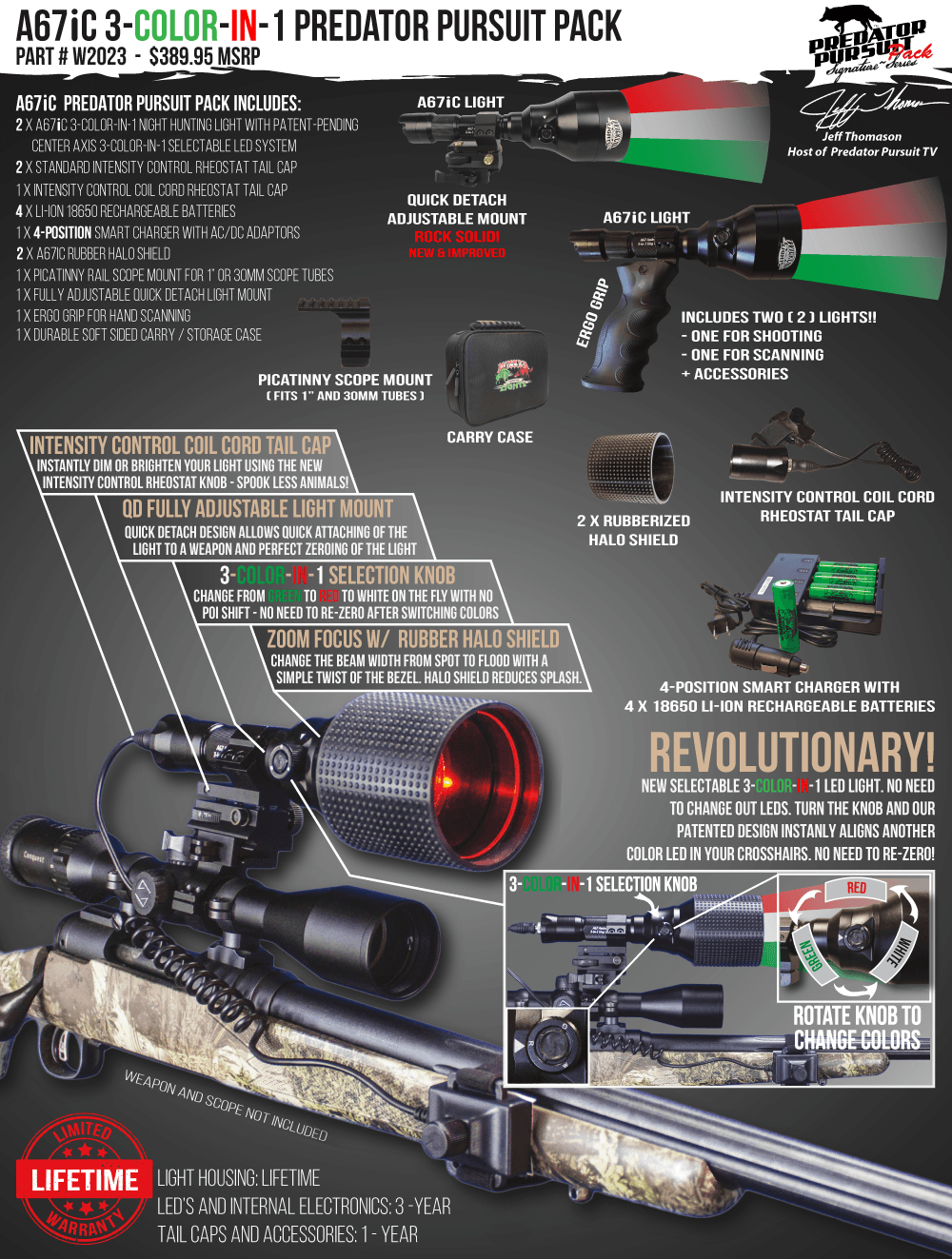 Wicked Lights A67iC Predator Pursuit Pack